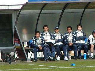試合中の石崎監督