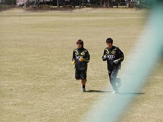 ランニング練習の平山選手