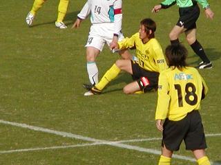 試合中の永井選手