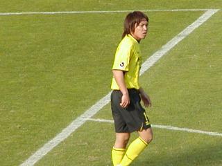 試合中の宇野澤選手