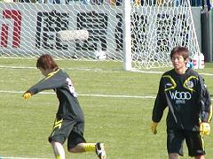 終盤出場の岡山選手