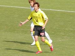 試合中の岡山選手