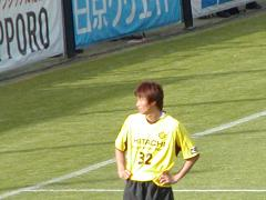 闘志溢れるプレーの岡山選手