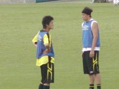 李、フランサ選手練習中
