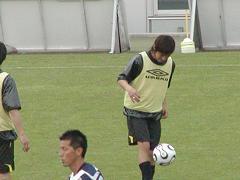 リフティング中の蔵川選手