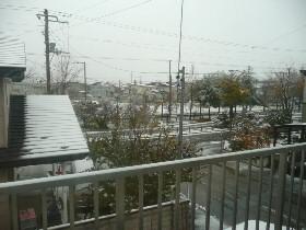 09初雪景色