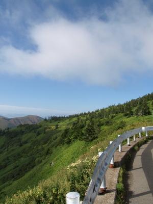 日本国道最高地点(標高2,172m)より