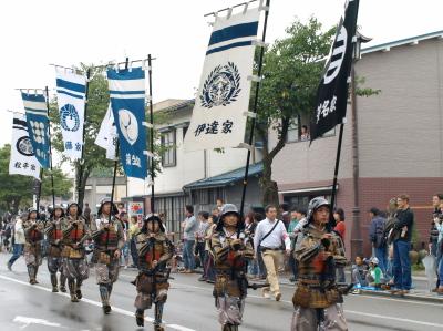 会津藩公行列2009 (歴代藩公旗手)