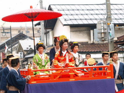 会津藩公行列2009 (菊姫の輿車)