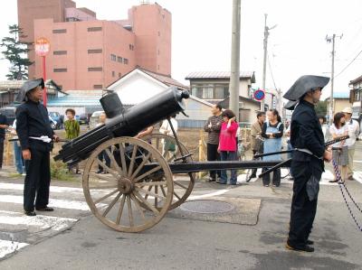 会津藩公行列2009 (長岡藩銃士隊 ガトリング砲)