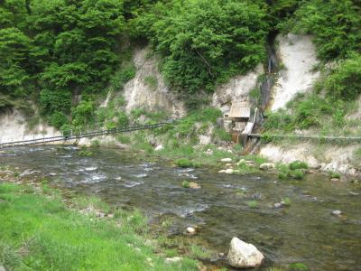滝谷川@滝の湯旅館(西山温泉)からの眺め