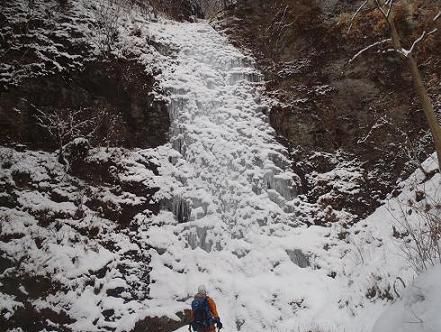 狭岩の氷瀑