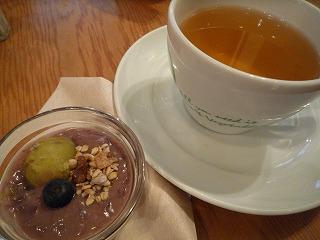 eat more greens(デザート&とうもろこし茶)