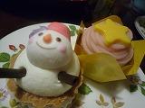 銀座コージーコーナー(銀の☆モンブラン、雪だるまのチーズタルト)