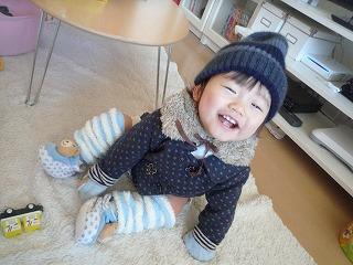 110107_れいちゃんからのコート&帽子 (6)