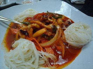 韓日館(蛸炒め)