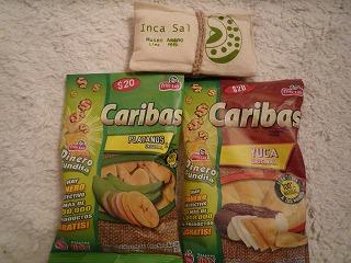 ペルー土産(チップス&岩塩)