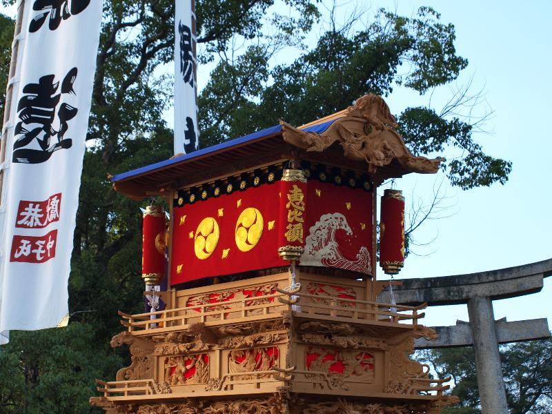 西条祭り 石岡神社 桜の馬場入り