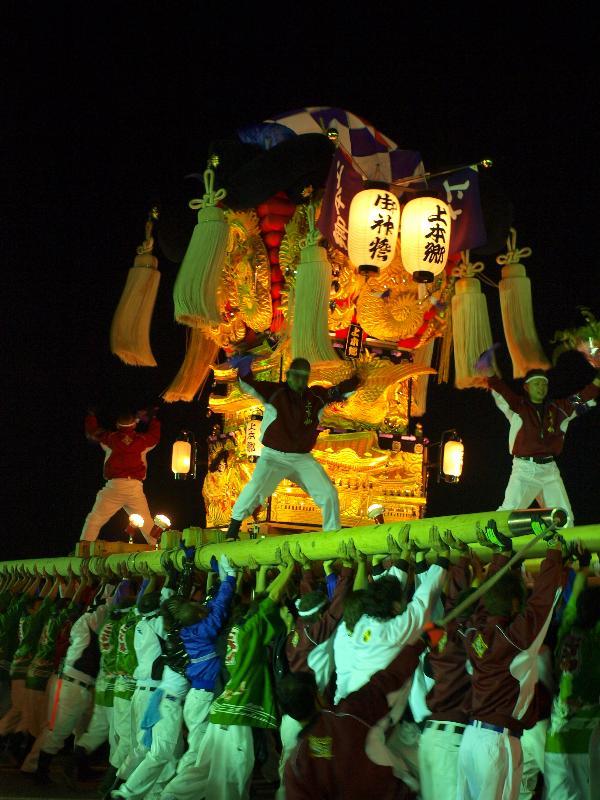 新居浜太鼓祭り 大生院地区 太鼓台統一寄せ 上本郷太鼓台