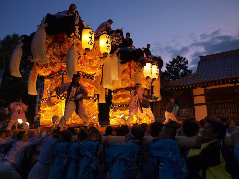 新居浜太鼓祭り 萩岡神社 萩生西太鼓台