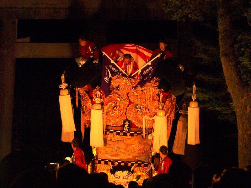 新居浜太鼓祭り 内宮神社 かき上げ神事 喜光地太鼓台