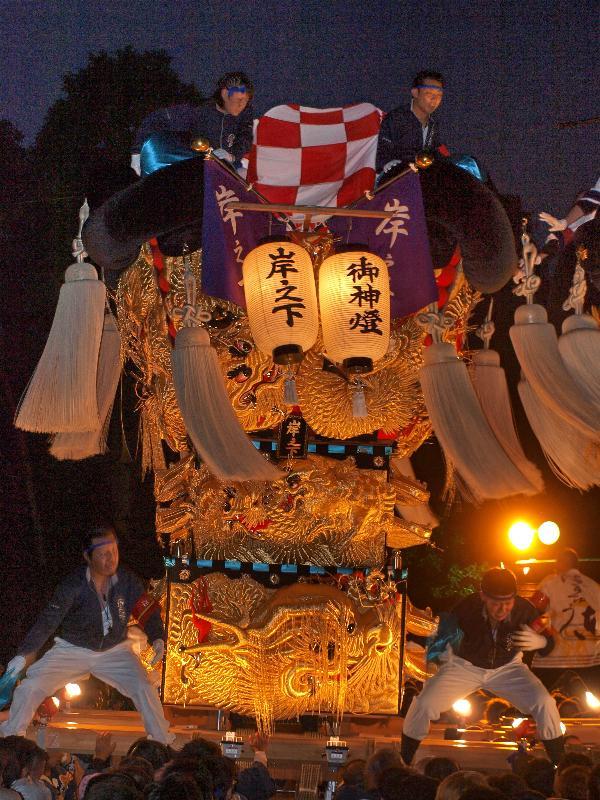 新居浜太鼓祭り 萩岡神社 岸之下
