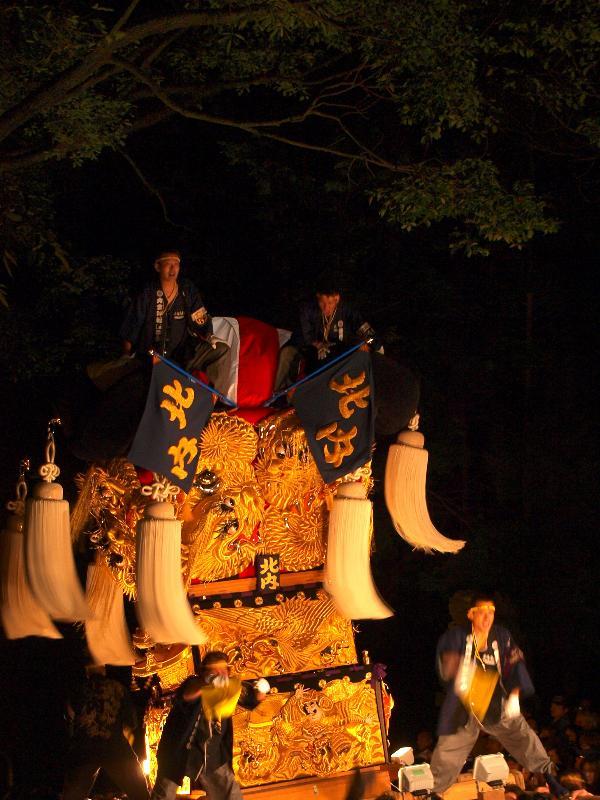新居浜太鼓祭り 内宮神社 かき上げ神事 北内太鼓台