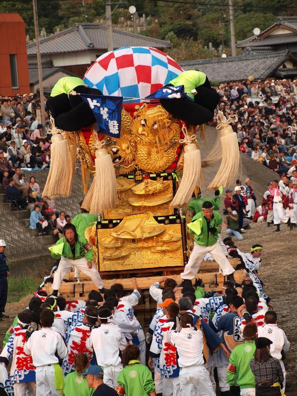 西条祭り 飯積神社 渦井河原 かきくらべ