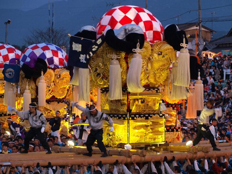西条祭り 飯積神社 渦井河原かきくらべ