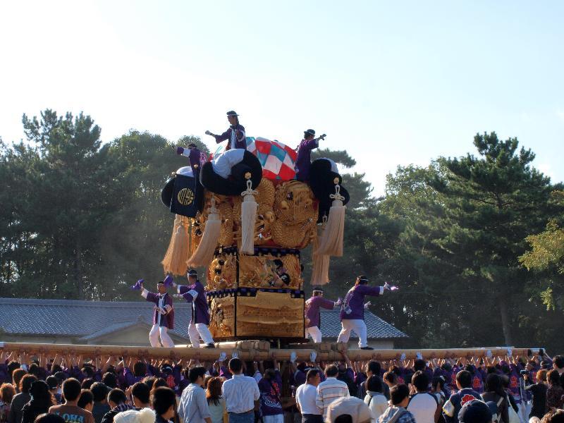 新居浜太鼓祭り 八旗神社かきくらべ 白浜太鼓台