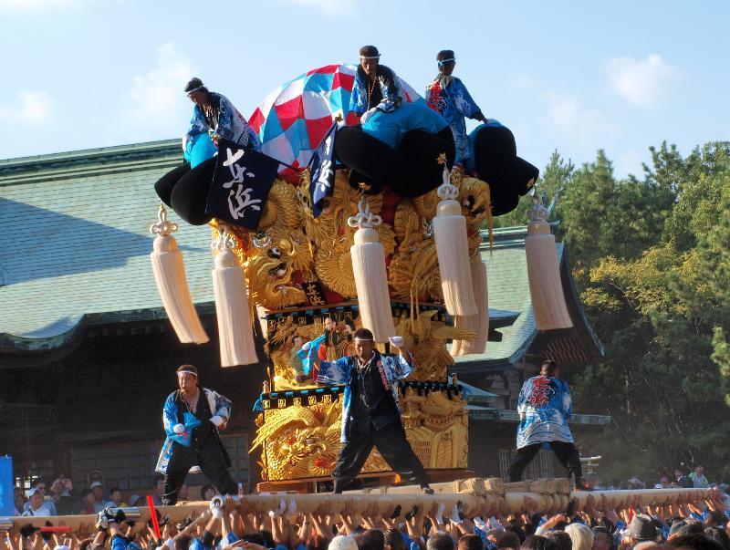 新居浜太鼓祭り 八旗神社 かきくらべ 東浜太鼓台