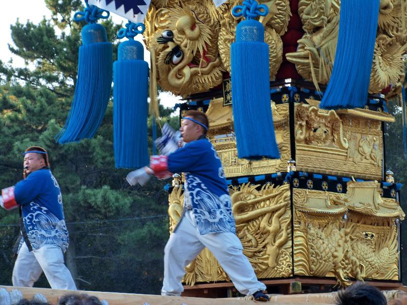 新居浜太鼓祭り 八旗神社かきくらべ 楠崎太鼓台