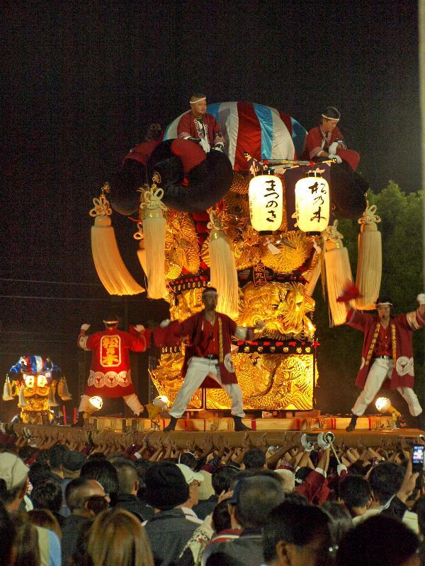 新居浜太鼓祭り 八旗神社かきくらべ 松の木太鼓台