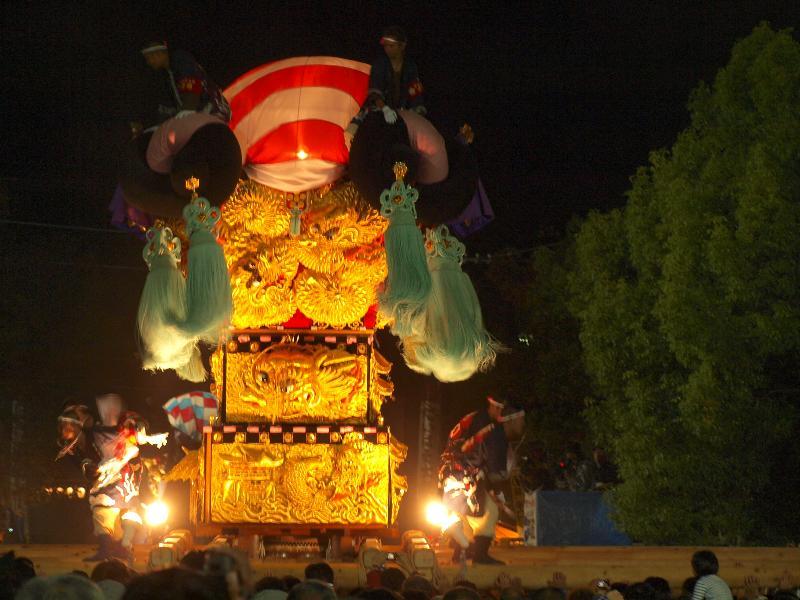 新居浜太鼓祭り 八旗神社かきくらべ 新田太鼓台