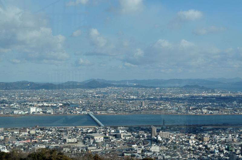徳島市眉山町 眉山公園 山頂からの眺望