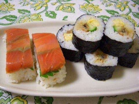 押し寿司と巻き寿司♪