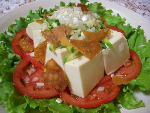豆腐サラダ♪