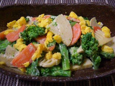 菜の花のサラダ♪