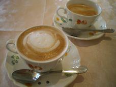 食後のカフェ。