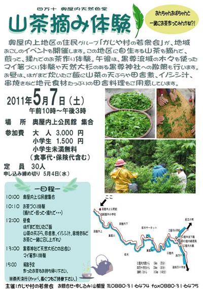 山茶つみ体験2011チラシ