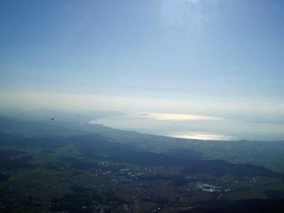 近江平野と琵琶湖