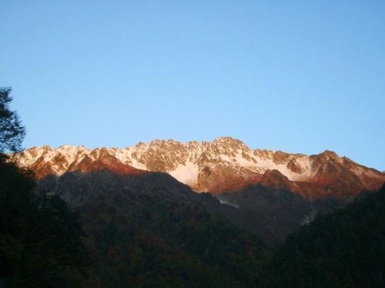 朝の立山連峰