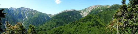092003赤石岳と荒川三山 見晴台にて