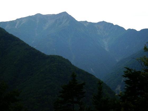 091904赤石岳と小赤石岳 鳥森山にて