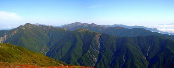 092110悪沢岳途中にて北方面