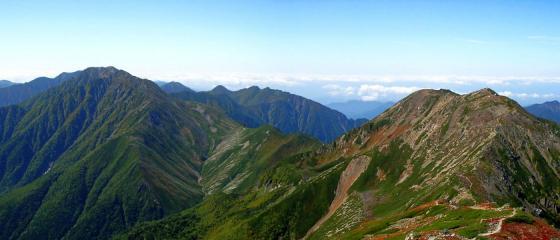 092115悪沢岳にて南西方面
