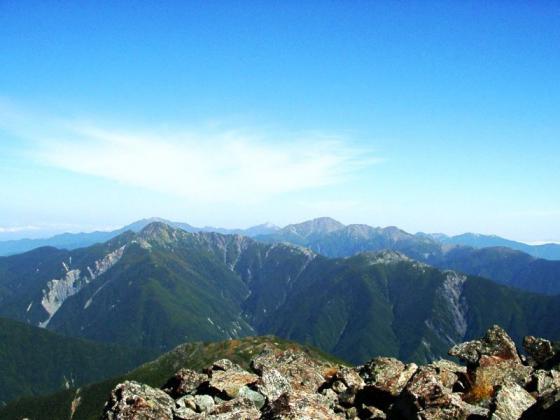 092114悪沢岳にて北方面