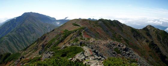 092123中岳にて前岳と小赤石
