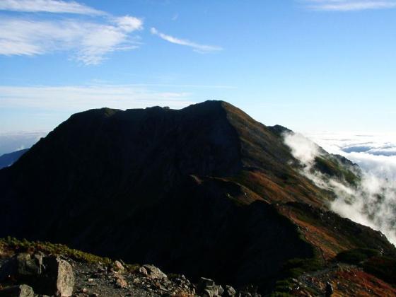 092134小赤石岳にて赤石岳