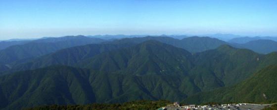 湖北から奥美濃の山々